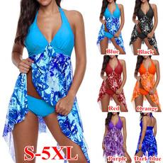 bathing suit, Plus Size, high waist, Halter