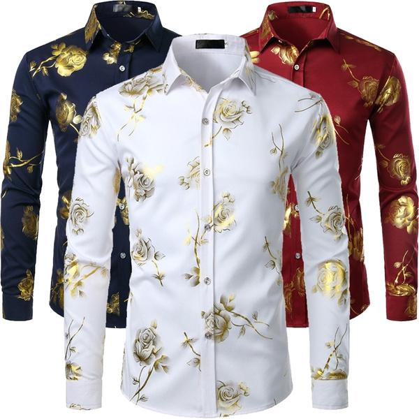 golden, Fashion, Long Sleeve, Dress