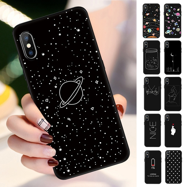 Cute Aesthetic Phone Case For Iphone X Xr Xs Xs Max 5s Se 6 6s 7 8 Plus 7plus 8plus Soft Tpu Ultra Thin Frosted Painted Protective Cover Wish