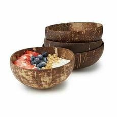 handicraftdecoration, fruitsaladnoodlericebowl, Wooden, coconutbowl