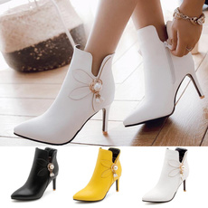 Rhinestone, Yellow, Women's Fashion, Shoes