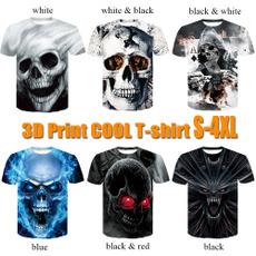 Funny, Fashion, Shirt, skull