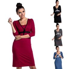 sleeve v-neck, night dress, Fashion, Sleeve