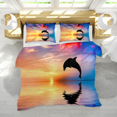 3pcsbeddingset, bedclothe, quiltcover, dolphinbedding