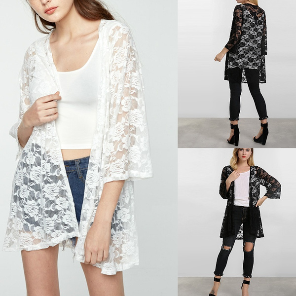 blouse, Summer, cardigan, Lace