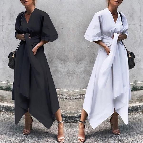 Waist, Plus Size, vestidoslongo, Sleeve
