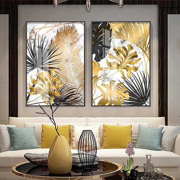golden, Decor, Modern, art