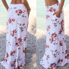 Fashion Skirts, long skirt, Fashion, beachskirt