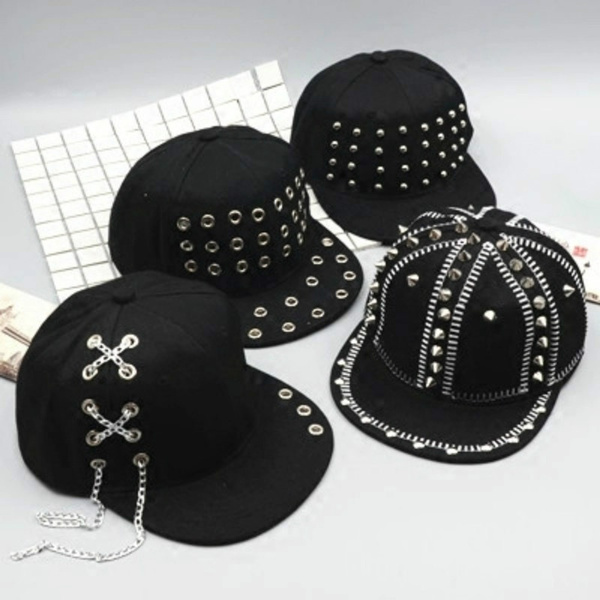 Baseball Hat, Goth, gothiccap, chaincap