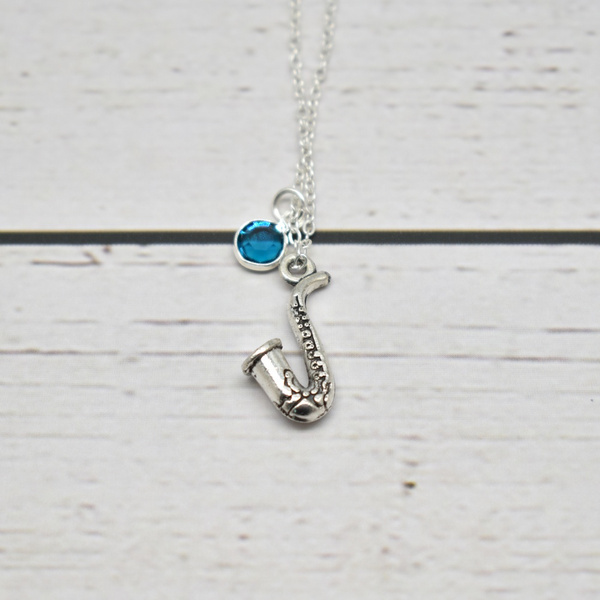 Saxophone Necklace for Women Personalized Alto Saxophone Necklace for Sax Player Birthday Gift Saxophone Jewelry for Band Student
