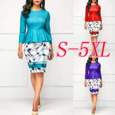 slim dress, Round neck, Moda masculina, neck dress