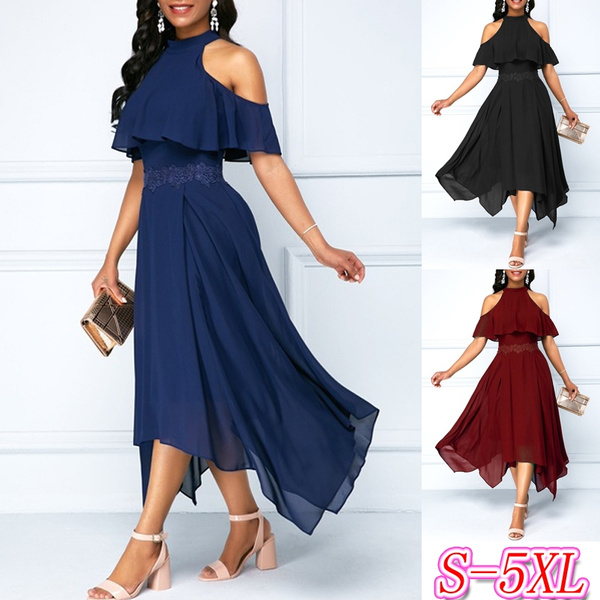 Summer, Fashion, chiffon, plus size dress