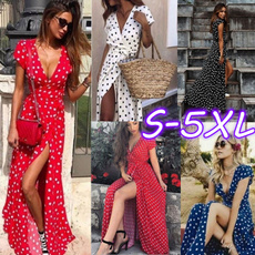 vtie, Summer, long skirt, Dress