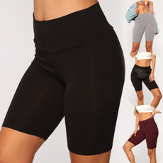 Leggings, Shorts, Yoga, Elastic