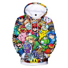 3D hoodies, Mario, Fashion, printed