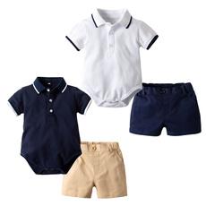 Baby, boysfashionsummerampgentleboyssuit, Fashion, collaredtopsamppoloshirtsampampampshortsleeved