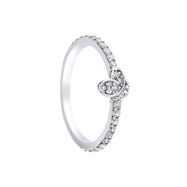 butterfly, Sterling, Fashion, original pandora ring jewelry