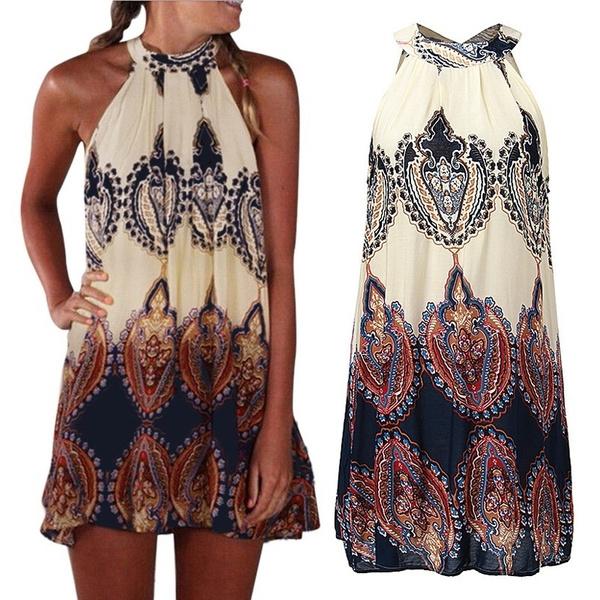 Summer, halter dress, Halter, Mini
