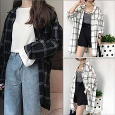 Plus Size, long sleeve blouse, Shirt, korea