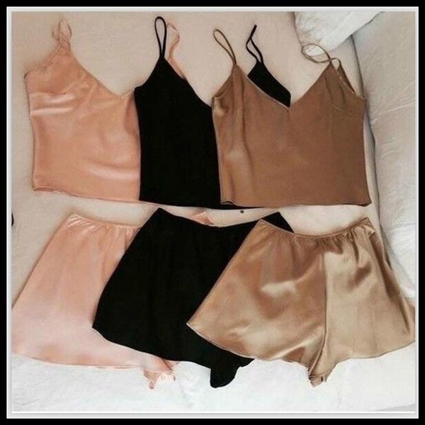 pajamaset, nightwear, Shorts, Tank