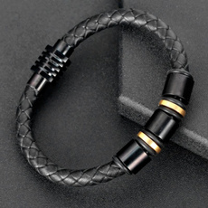 Steel, Fashion, Wristbands, leather