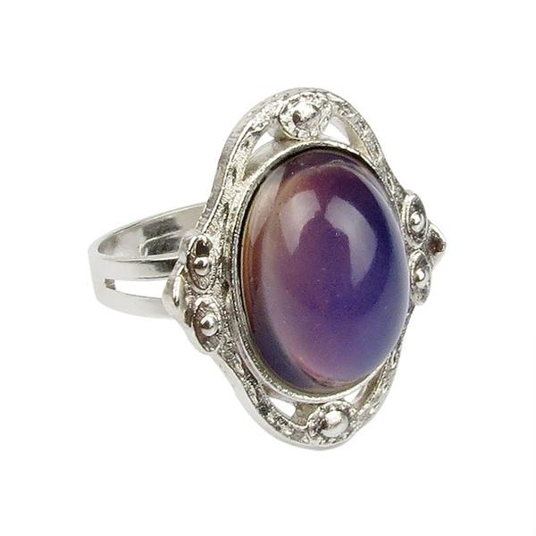 emotionring, crystal ring, Jewelry, Vintage