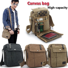 Shoulder Bags, School, leather, Vintage