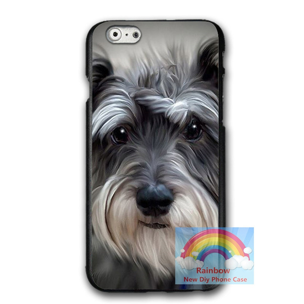 Miniature Schnauzer Iphone 6 6plus Case Designs Miniature Schnauzer Hard Plastics Phone Protective Case Cover Wish Mini elephant phone desktop stand table phone support holder universal plastic mobile phone holder for xiaomi huawei for iphone. wish