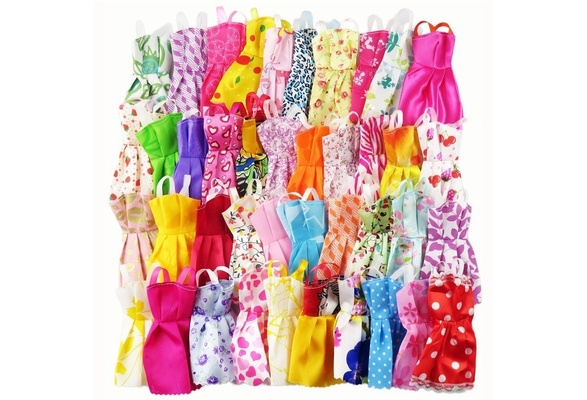 10Pcs Dresses For Doll Party Girl Dresses Clothes Toy Gown Gift P3H6