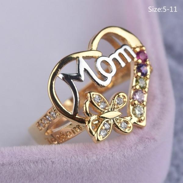 DIAMOND, Love, 925 silver rings, Sterling Silver Ring