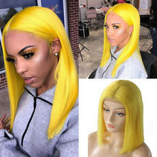 wig, Synthetic Lace Front Wigs, yellowwig, Shorts