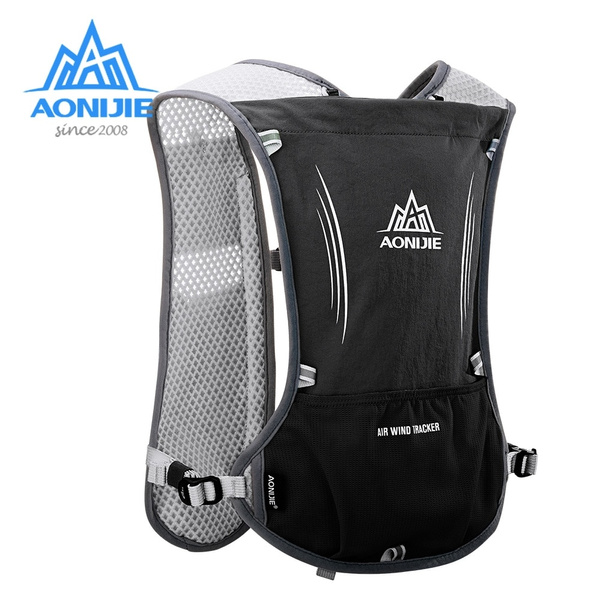 Aonijie E913s 5l Hydration Backpack Rucksack Bag Vest Harness For 1 5l Water Bladder Hiking Camping Running Marathon Race Sports Wish