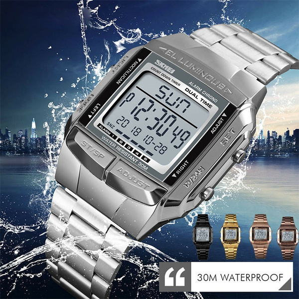 LED Watch, menwristwatche, Fashion Accessory, Men