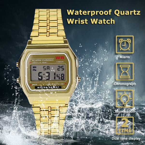 watchformen, Fashion, led, golden