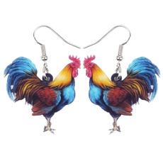 roosterearring, earringsforkid, earringshoop, Jewelry