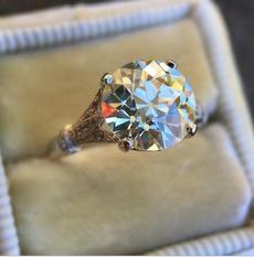 White Gold, whitegoldring, Fashion, Women Ring
