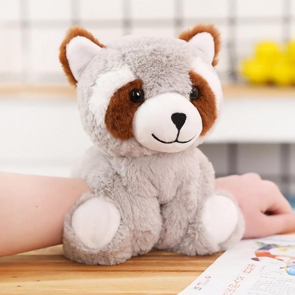 Best Stuffed Animals For Boy, Cute Cartoon Animal Bracelet Plush Toy Panda Unicorn Monkey Raccoon Pig Bear Dog Stuffed Doll Gifts For Kids Girls Wish