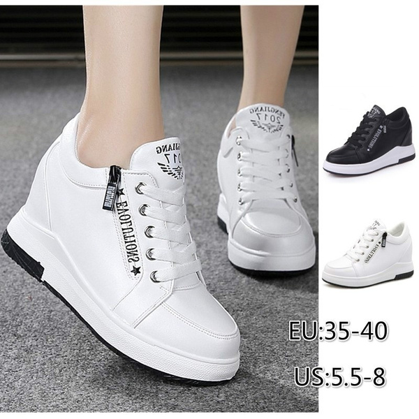 Wedge Sneakers Casual Shoes White