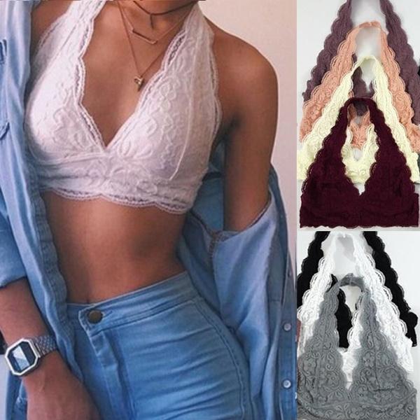floral lace, strapless, Fashion, bralette top