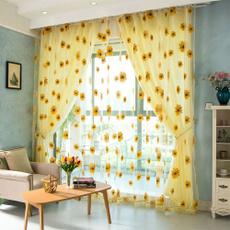 windowblind, tulle, Home Decor, Sunflowers