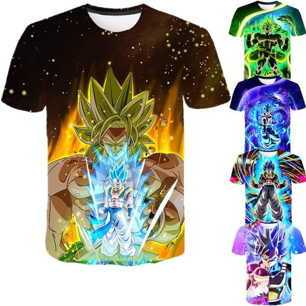 Short Sleeve T-Shirt, Dragon Ball Z, Tops, summer t-shirts