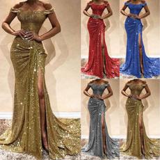 gowns, sleeveless, Fashion, long dress