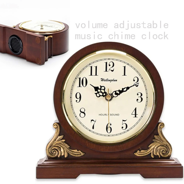Antique, mechanismclock, Home Decor, woodtableclock