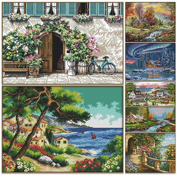 embroiderycrossstitch, Home Decor, countedcrossstitch, 3dcrossstitchkit