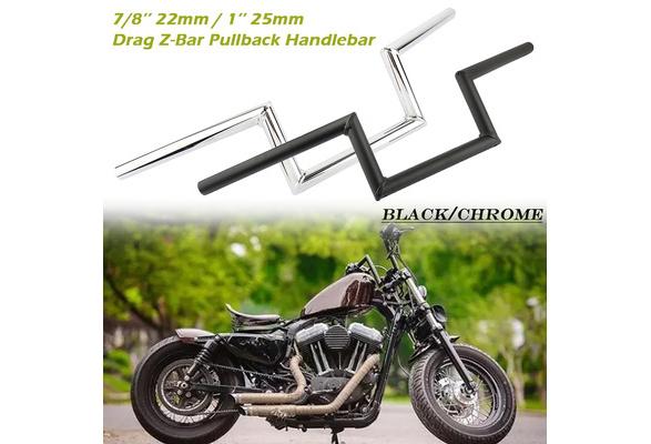 Areyourshop Motorcycle 7//8 Z Handlebar Drag Bars For Honda Yamaha Suzuki Chopper Bobber