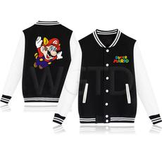 Casual Jackets, Mario, kidsbaseballjacket, Jacket