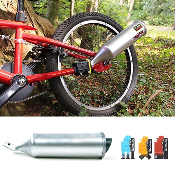 Bicycle Turbo Spoke Pipe Exhaust System Motorcycle Sounds Bike Engine NEW