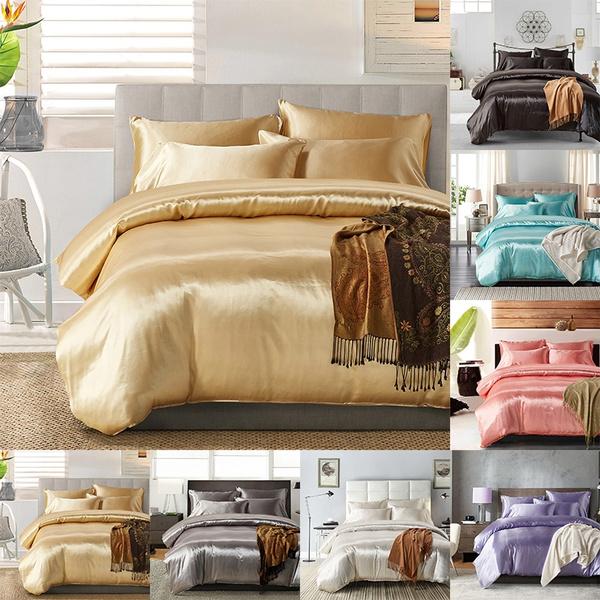 bedclothe, silkbeddingset, soft pillowcase, Home & Living
