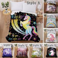 Fleece, bedblanket, sofablanket, unicorn