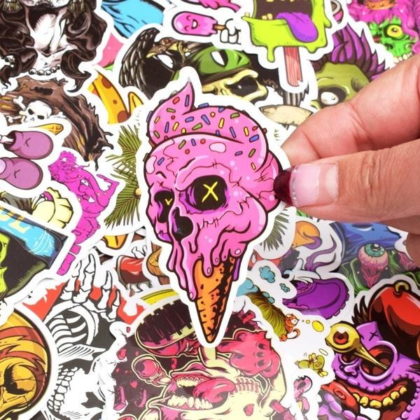 PVC wall stickers, Car Sticker, Toy, Skeleton